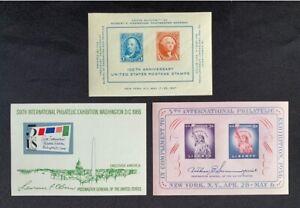 3-Different-Mint-U-S-Souvenir-Sheets-Collection-MNH-948-1075-1311