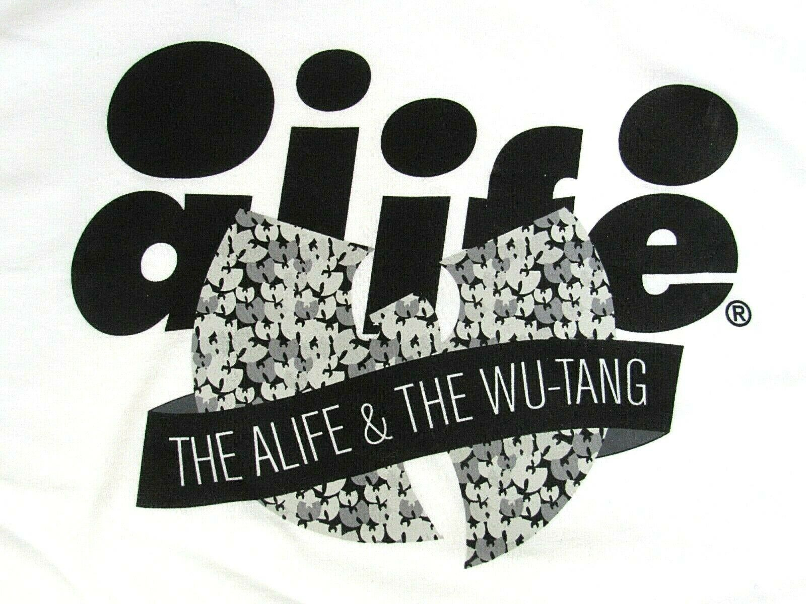Deadstock A.R.C. THE ALIFE x WU-TANG CLAN and WU Weiß T-shirt AL-002306