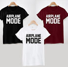 AIRPLANE MODE T-SHIRT - LADIES MENS HOLIDAY FUNNY VACATION COOL TOP TEE FLIGHT