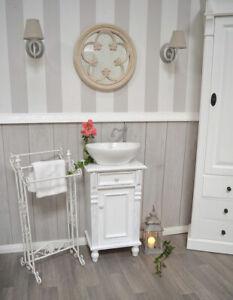 Details zu Gäste-Waschtisch, H78xB45xT35cm, Landhaus-Badmöbel Shabby-Chic,  Nostalgie