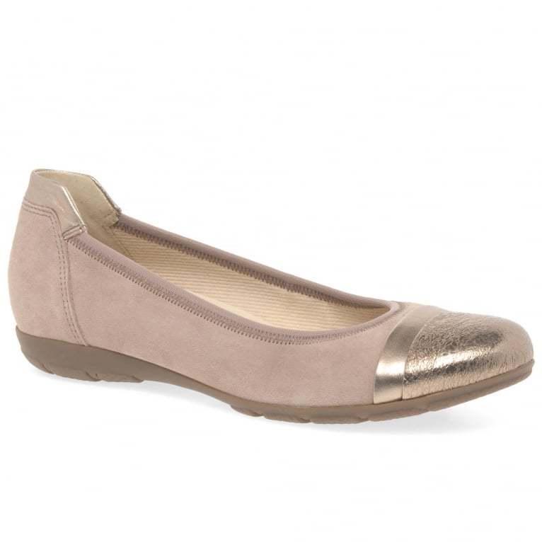ampia selezione In pelle scamosciata Ballerina Piatto Scarpe Gabor Jenny rosa rosa rosa Regno Unito TAGLIE 4 & 5  garantito