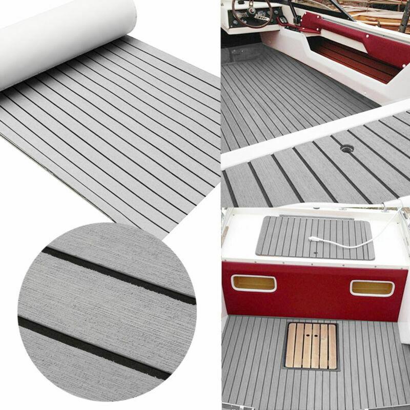 2400x900x6mm EVA Bodenbelag Fußboden Selbstklebend Teak Für Yacht Stiefel Grau DE