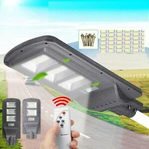 Solar-Street-Light-80W-120W-sensore-di-movimento-Lampada-da-giardino-Parete-controller-remoto