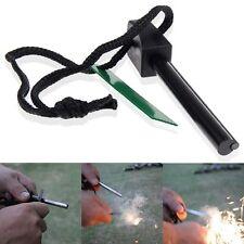 Survival Magnesium Flint And Steel Striker Fire Starter Lighter Stick Camping UK