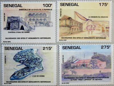 Senegal 1994 1298-01 1125-28 Historical Sites Unesco Welterbe Gorée Island Mnh
