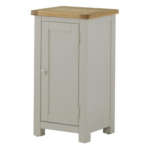 Padstow Grey Small Cupboard Solid Wood Painted Door Grey - Small grey cupboard