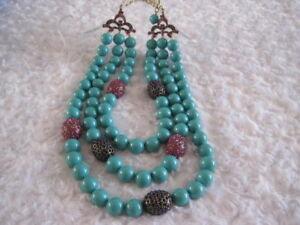 HEIDI-DAUS-034-The-Big-Pretty-034-Turquoise-3-Strand-Necklace-Orig-289-95-LAST-1