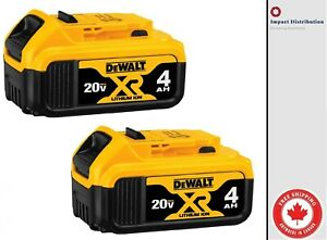 DEWALT DCB204-2 20-Volt MAX XR Li-Ion 4.0 Ah Battery  [2 PACK]
