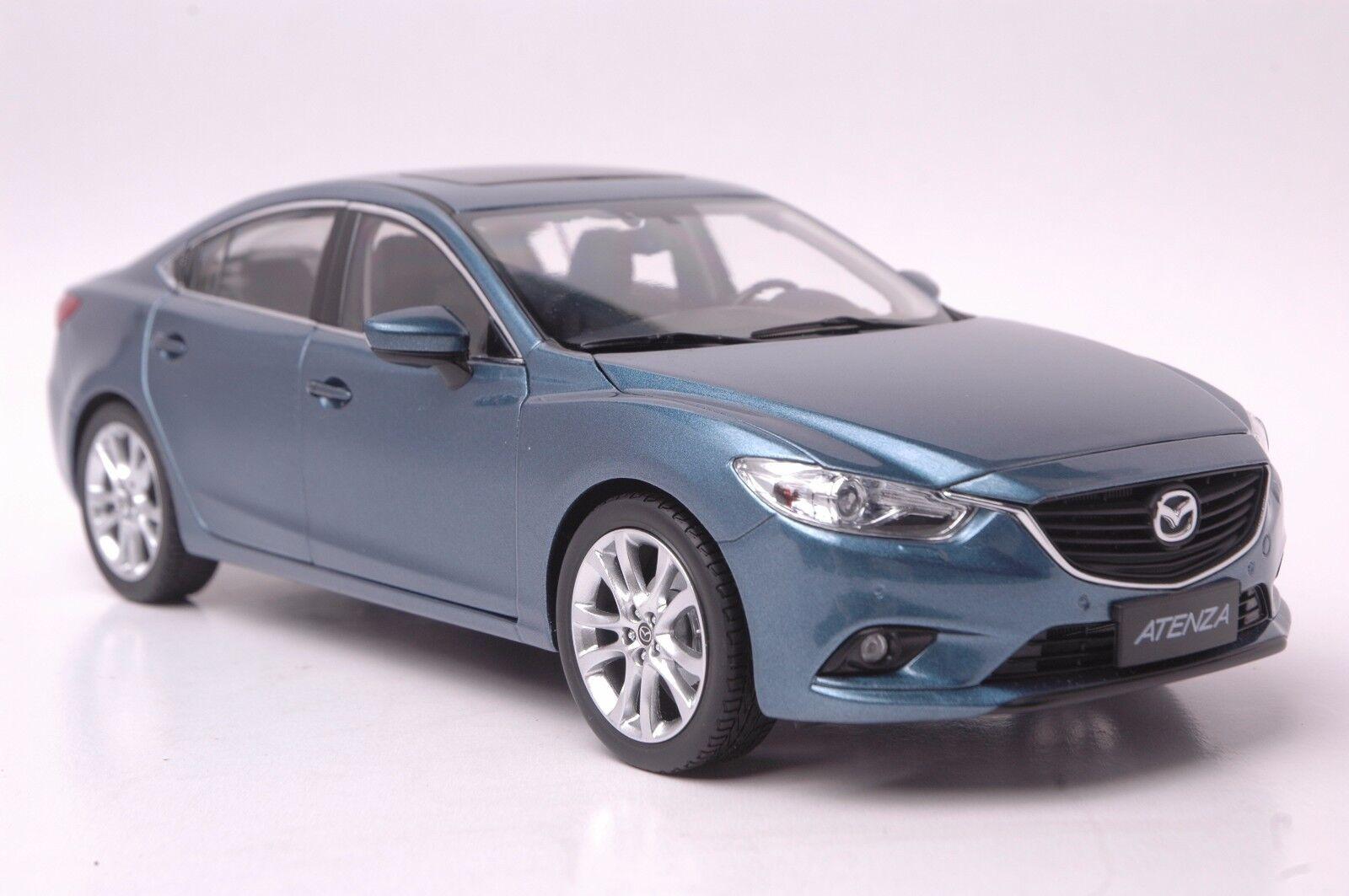 Mazda Atenza car model in scale 1 18 bluee