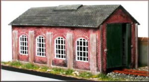 Knightwing-PM112-OO-Gauge-Single-Road-Engine-Shed-Plastic-Kit