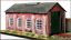 Knightwing-PM112-OO-Gauge-Single-Road-Engine-Shed-Plastic-Kit thumbnail 1