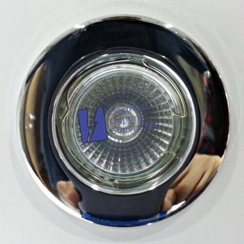 Standard Fixed GU10 Mains Ceiling Recessed Downlight Spotlight Pressed Steel
