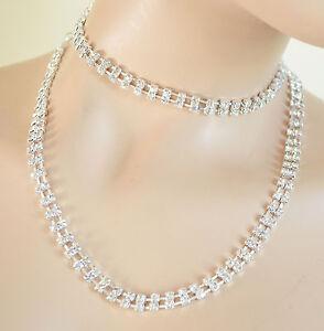 disponibilità nel Regno Unito cadae 349d8 Dettagli su CINTURA donna COLLANA Girocollo STRASS cristalli SPOSA  damigella elegante CX2