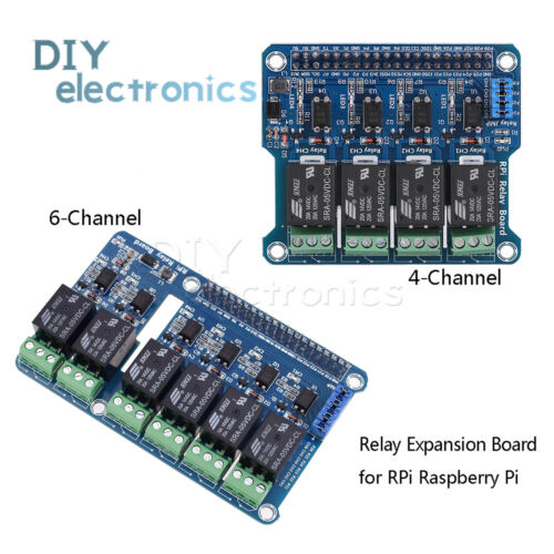 4//6 Channel RPi Relay Module Expansion Board for Raspberry Pi 3 2 A+B+2B 3B US