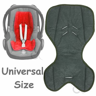 Universal Car seat insert liner reducer COSY green trim dark grey