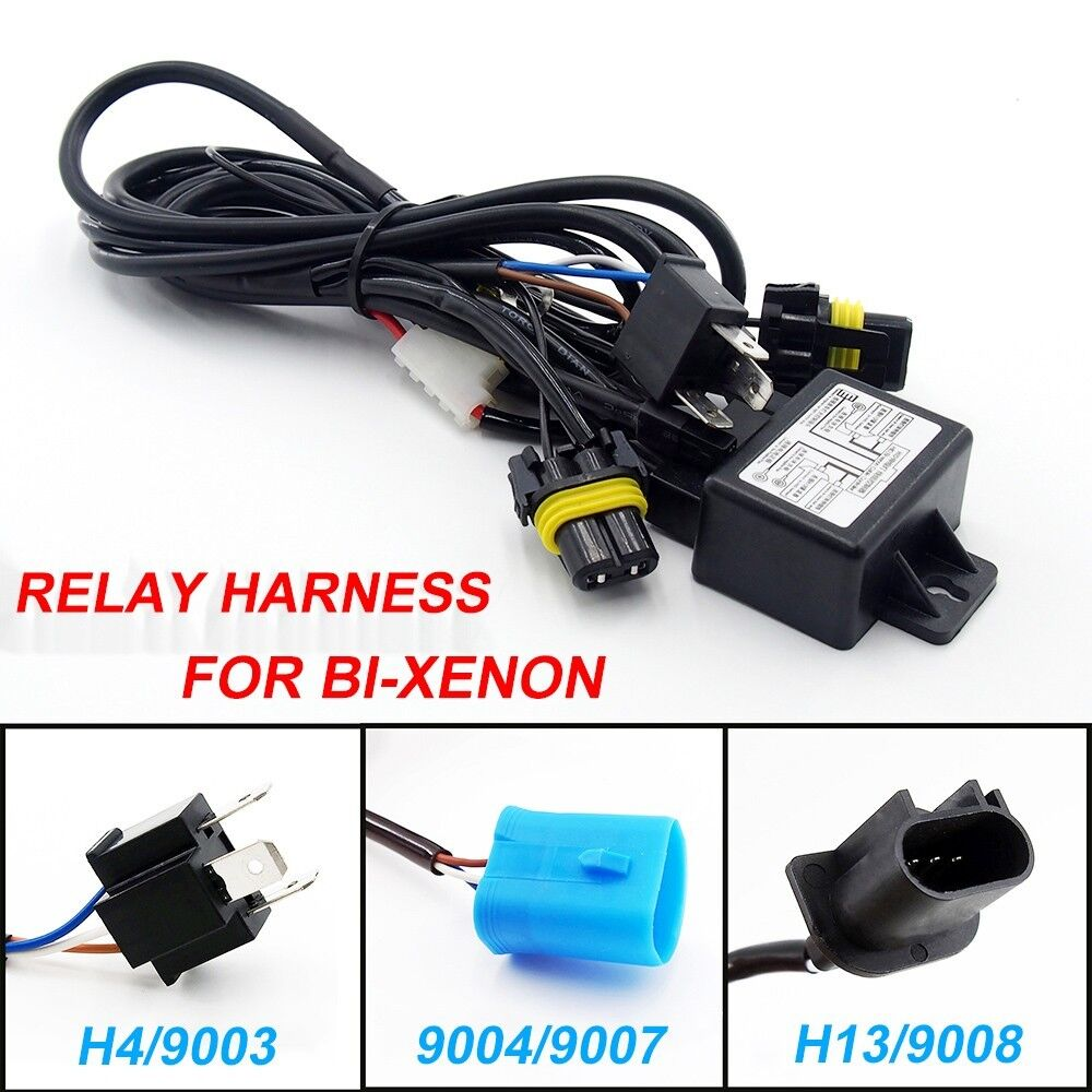 Hid Car Relay Harness H4  9003 9004  9007 H13  9008 Bi