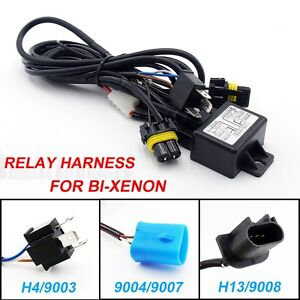 Hid car relay harness h49003 90049007 h139008 bi xenon wiring image is loading hid car relay harness h4 9003 9004 9007 sciox Images