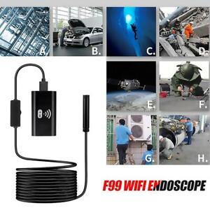 1//2//5m USB WIFI Endoskop 8mm 1200P HD Inspektionskamera für iPhone Android PC