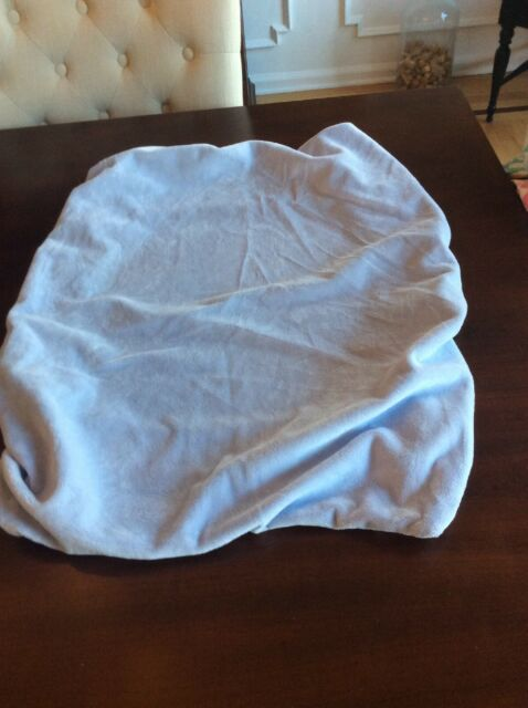 POTTERY BARN KIDS Blue Chamois Change Table Pad Cover