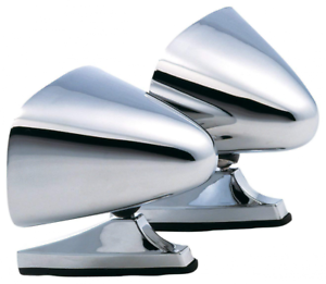 Classic Muscle Car Restomod Vintage Style Chrome Sport Bullet Mirrors Hot Rods
