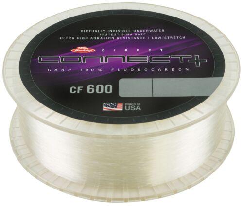 Berkley Connect NEW CF600 100/% PVDF Carp Fluorocarbon 1200m Spool All B//S