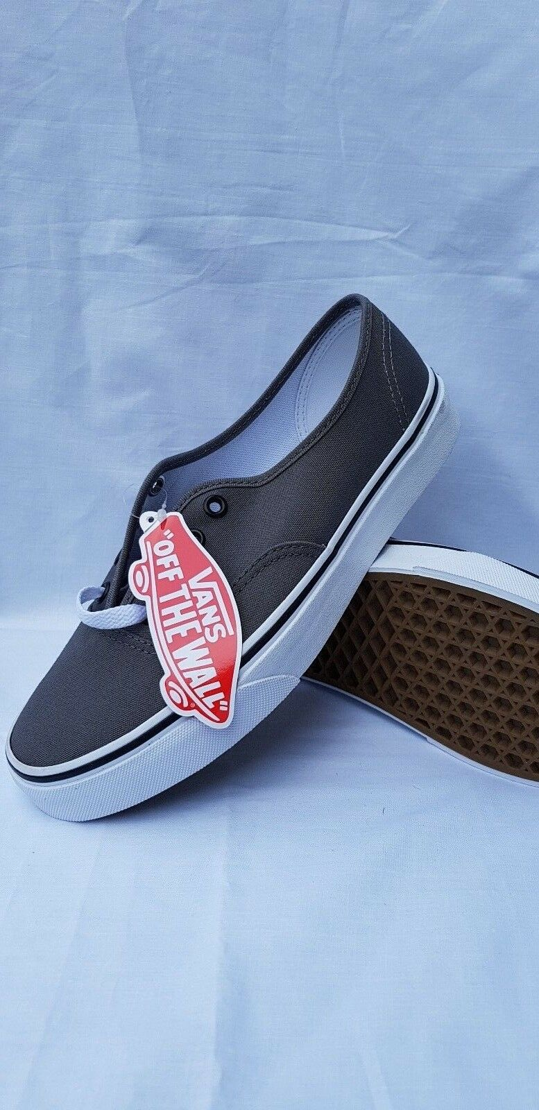 Vans Old Skool Off The Wall Toile Patineuse Marine Baskets Tennis Gris Blanc Marine Patineuse c3e8f2