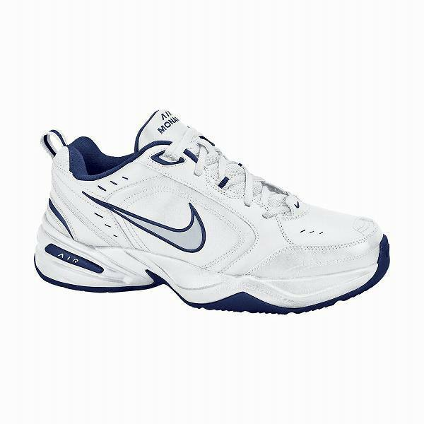 Men's NIKE AIR MONARCH 416355 White+Blue+Silver Athletic Sneakers Shoes NEW