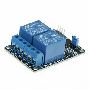 5V Two 2 Channel Relay Module With optocoupler Compatible Arduino PIC AVR