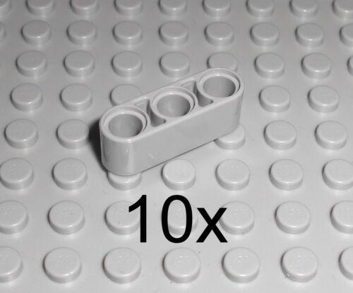 LEGO Technic 10x Lochbalken Lochstange Liftarm 1x3 neu hellgrau LBG beam 32523