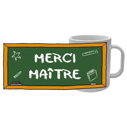 Ecole maternelle primaire Instit Mug Tasse Merci Maître motif tableau craie