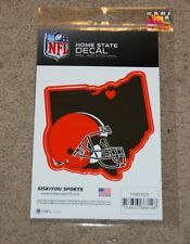 CLEVELAND BROWNS NFL FOOTBALL SPORTS HOME STATE SMALL DECAL