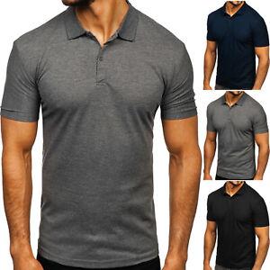 Poloshirt T-Shirt Polo Tee Hemd Kurzarm Men Basic Herren