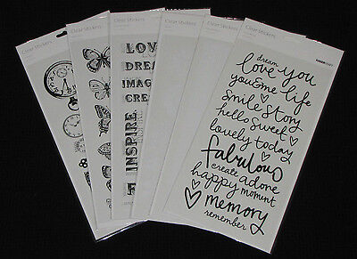 You choose NEW KAISER Kaisercraft /'CLEAR STICKERS/' Card Making Words /& Phrase
