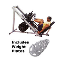 Body Solid Leg Press Hack Squat Hip Sled GLPH1100 Plus 255 lbs. of Weight Plates
