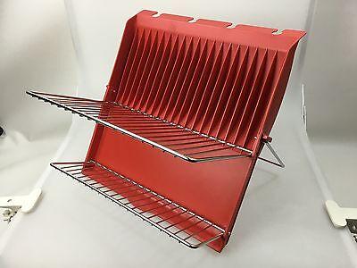 Abtropfgestell Abtropfgitter Farbe Rot Kunststoff//Edelmetall