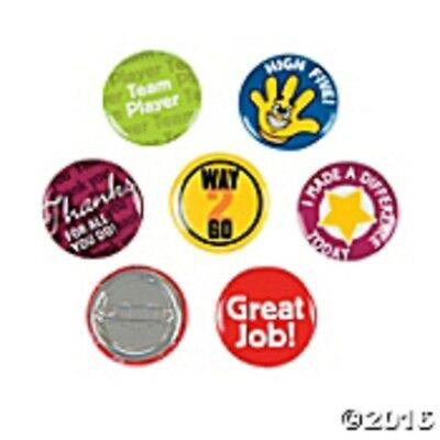 "Mini Buttons - 48 Recognition  Mini Buttons 1"" pins - Teacher Reward Buttons"