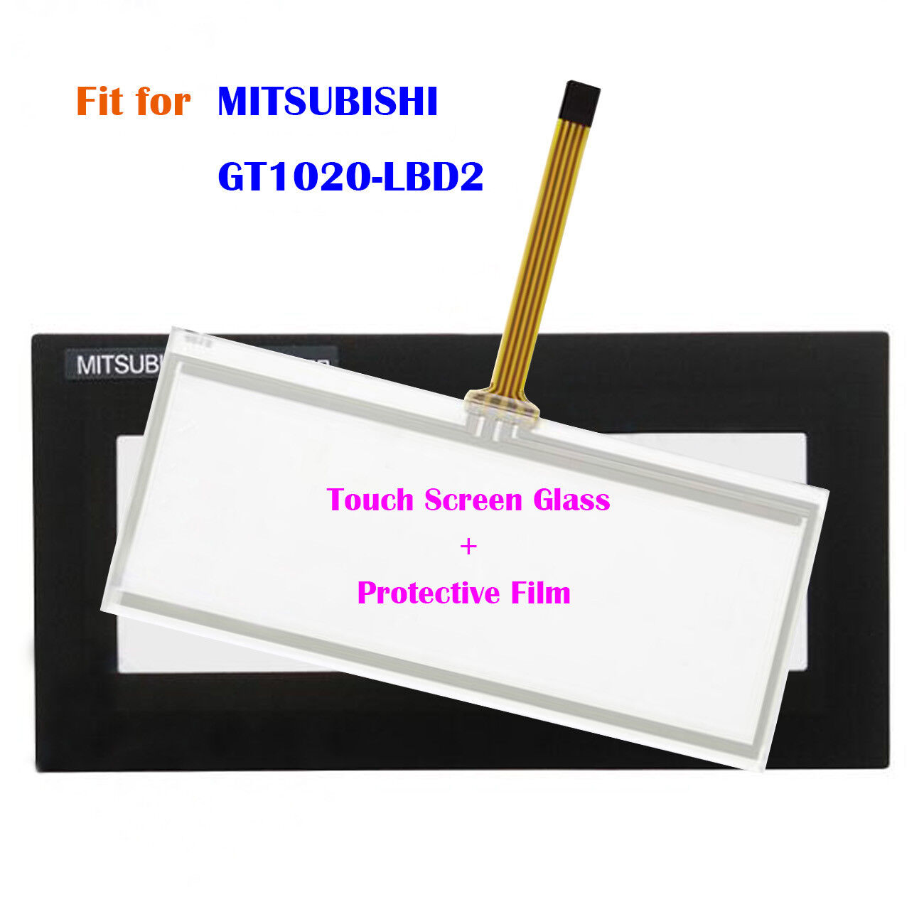 For MITSUBISHI GT1020-LBD2, GT1020LBD2 Touch Screen Glass + Predective Film New