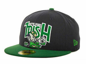 5db43b61aee Notre Dame Fighting Irish NCAA New Era 59FIFTY Fitted Cap Hat - Size ...