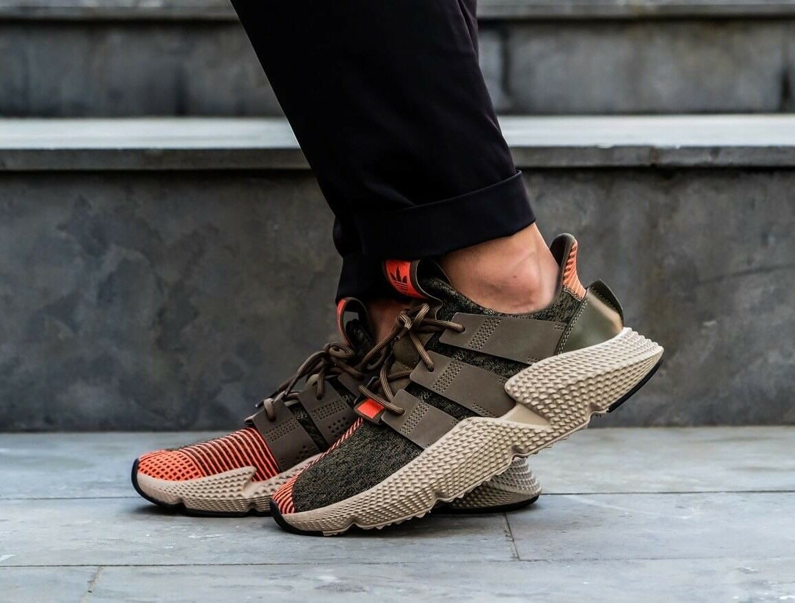 ADIDAS ORIGINALS PROPHERE  CQ2127 MEN CASUAL SHOES TRACE OLIVE SOLAR RED