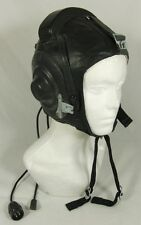 Soviet Russian MiG Pilot Leather Helmet Hat * USSR Original 1981 * Size 58cm M/L