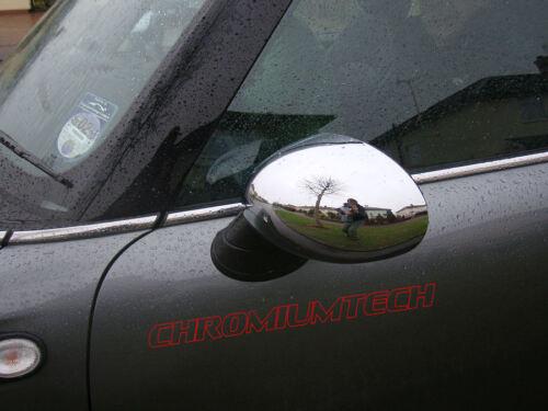 MK1 BMW MINI Cooper//S//ONE R50 R52 R53 Chrome Wing Mirror Cap Couvre Pour LHD