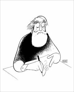 Al-Hirschfeld-039-s-SELF-PORTRAIT-AT-99-Hand-Signed-Limited-Edition-Lithograph