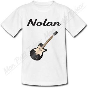 T-shirt-Enfant-Guitare-avec-Prenom-Personnalise