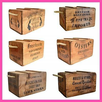 Post Office Box Crate Vintage Antiqued Wooden Box Trug Brighton