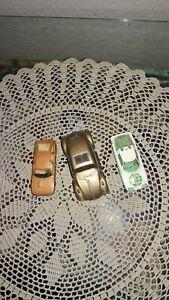 LOT-OF-3-DIECAST-CARS-VOLKSWAGEN-BUG-TOOTSIE-CAMARGUE-amp-CITROEN-MAJORETTE