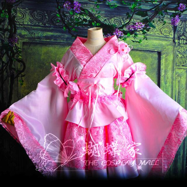 Gothic Pink Moulin New Lolita Costume Lace Kimono Customized