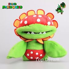 "Super Mario Bros. Petey Piranha Flower Plush Toy Soft Stuffed Doll 7"" Great Gift"