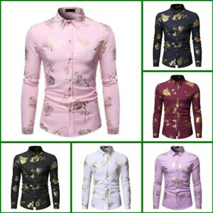 Top-Long-Sleeve-Casual-Stylish-Luxury-Dress-Shirts-Slim-Fit-Floral-Mens-Shirt