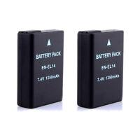 2-Pack Camera Battery EN-EL14 EN-EL14 for Nikon