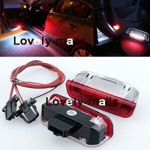 Premium-White-Red-LED-Side-Door-courtesy-Lights-For-VW-Golf-GTi-EOS-Jetta-Passat